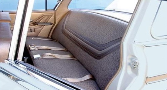 Examine the seats and upholstery