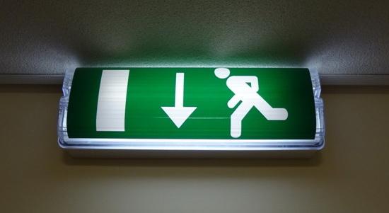 Examine exit signs