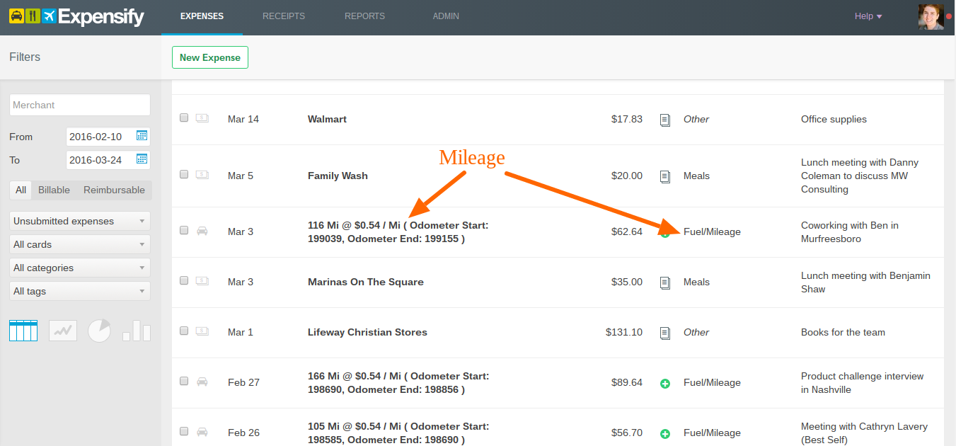 Submitting expense reports from Expensify | Process Street