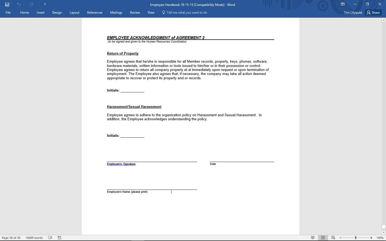 New Employee Checklist Copy Process Street - Employee handbook acknowledgement form template