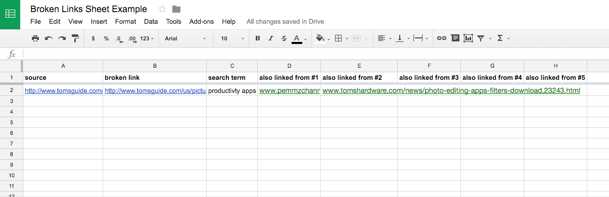 Create a new Google Sheet template