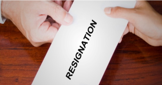 Request a letter of resignation