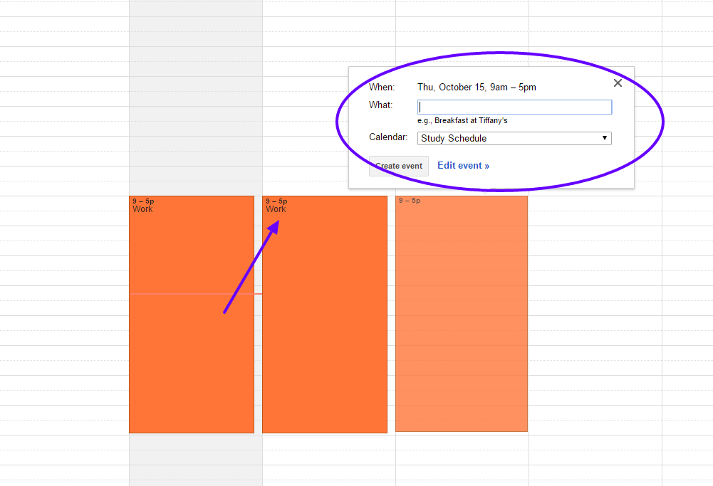 Added work shifts to calendar