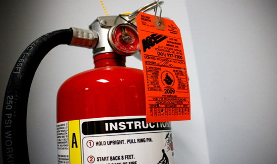 Check all fire extinguishers