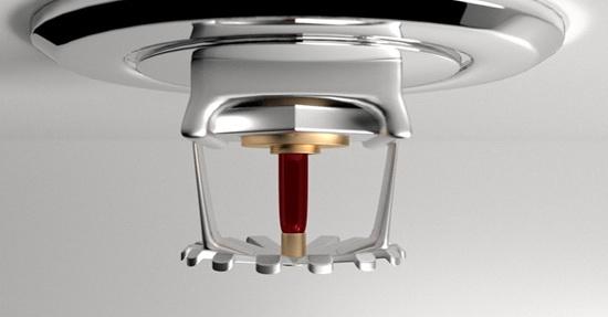 Ensure vertical clearance from sprinklers