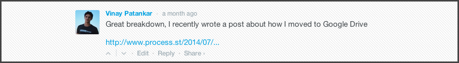 Comment on related Blog Posts