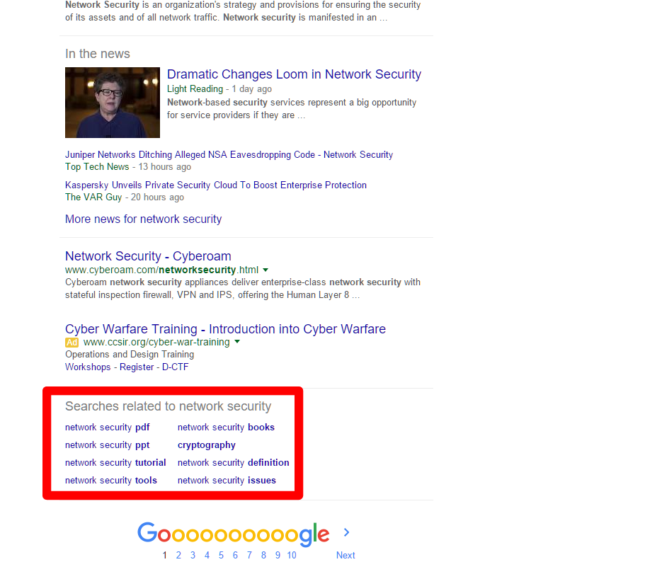 Google your first keywords
