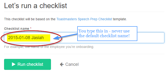 toastmasters speech prep checklist copy process street