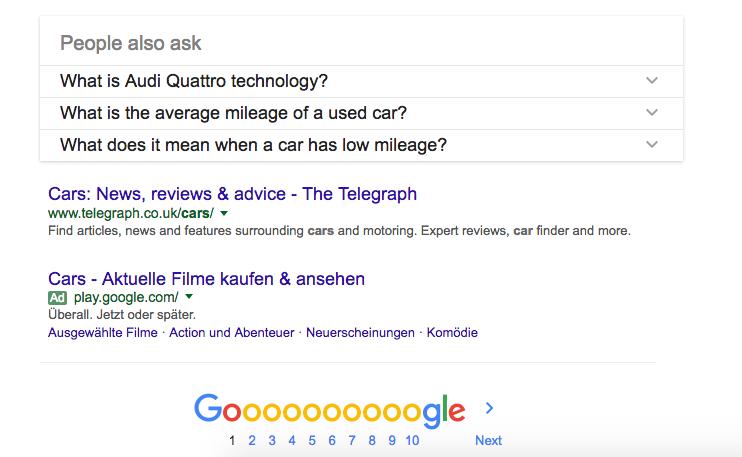Google your primary keywords