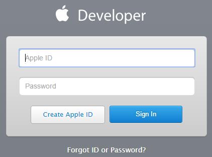 Register for an Apple Developer account