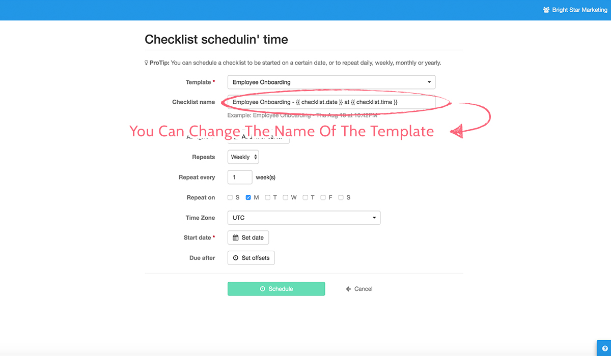 A Checklist For Checklists scheduled checklists – process street help