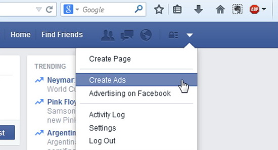 Sign into your Personal Facebook Account