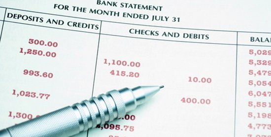 Review year-end bank statements
