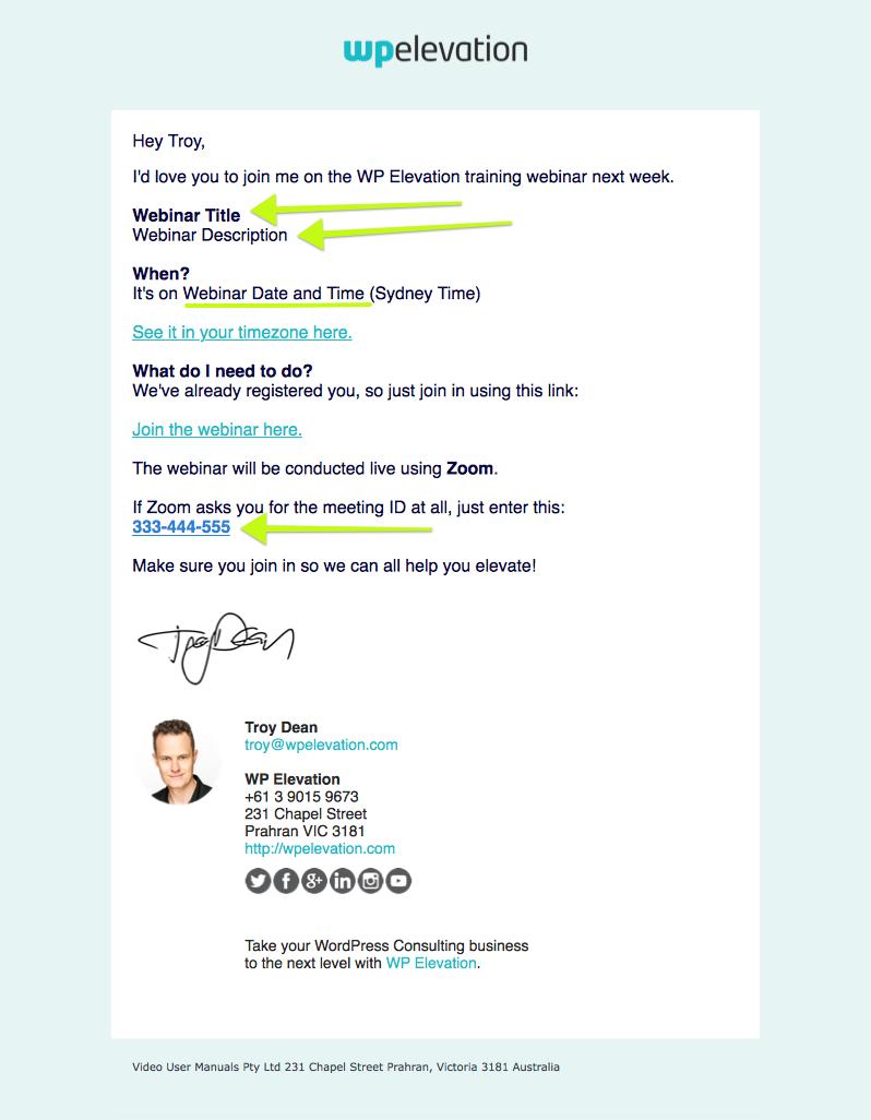 Troy's Webinar