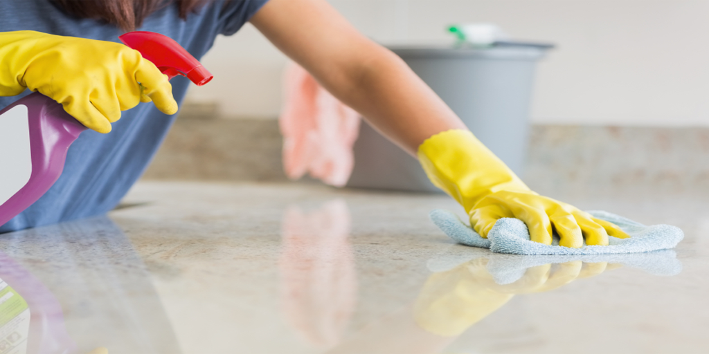 Clean all countertops