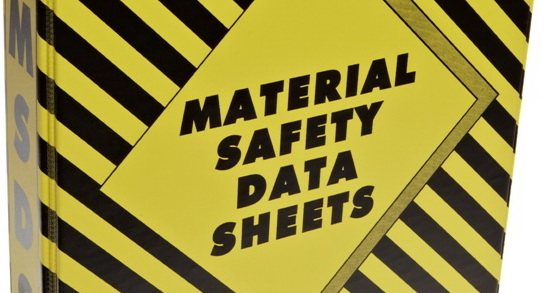 Copies of Materials Safety Data Sheet (MSDS)
