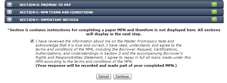 Complete Master Promissory Note