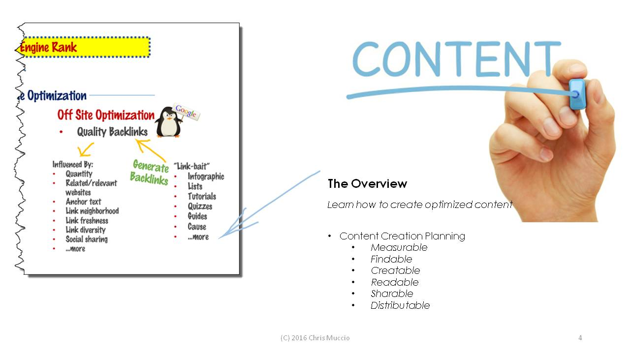 The natural flow of content benefits from focusing on winnable keywords.  In return, your optimized, quality content will generate backlinks (people linking to you), which increases your value in Google's search algorithm and makes you easier to find.    Quality content provides a lot of cascading benefits for you!