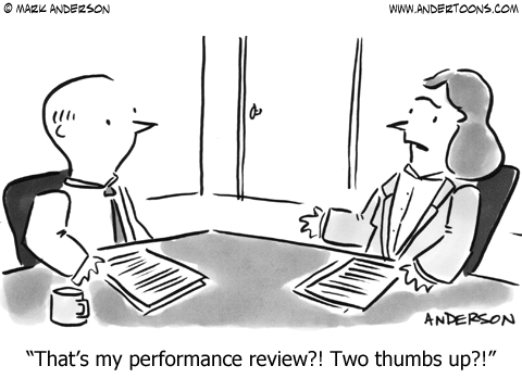 Schedule a meeting to review performance
