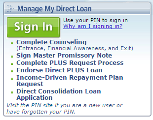 Log into StudentLoans.gov