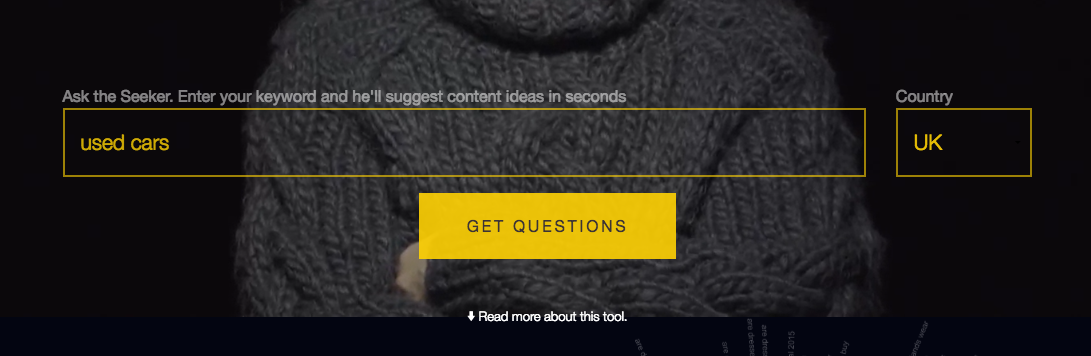 Use Answerthepublic to create long tail keywords and questions