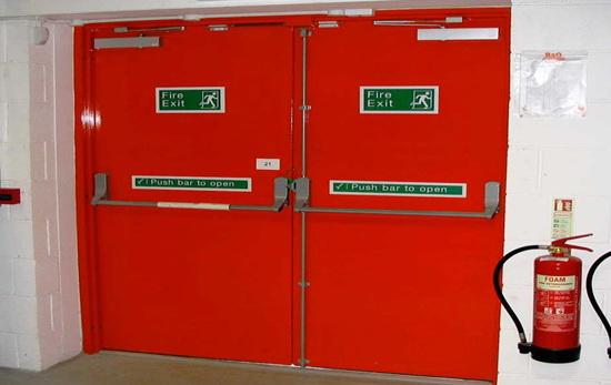 Examine the fire doors